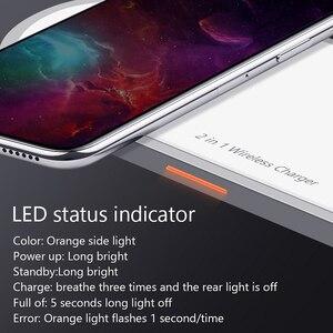 Image 5 - Chargeur sans fil pour iPhone 8 X Xs Max Samsung S9 pour Apple Watch 5/4/3/2/1 Charge sans fil magnétique 2 en 1 chargeur rapide