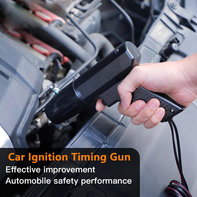 Car Motorcycle Ignition Timing Gun Automotive Diagnostic Tools Timing Light Strobe Detector for Car Motorbike Repair Tool