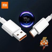 Xiaomi 6A typ C kabel oryginalny Mi ładowarka Turbo 33w szybkie ładowanie dla Mi 11 10i Poco X3 CC9 Pro 9T Redmi K40 Typec turbosprężarka