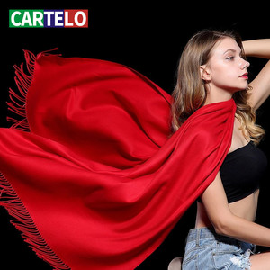 CARTELO New Women Scarf Female Luxury Brand Scarves Fashion Lady Tassel Bandana Shawl Tippet Pashmina Cashmere Foulard