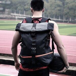 Мужской рюкзак, дорожный рюкзак, спортивный черный рюкзак для альпинизма, баскетбольная сумка, многофункциональная Повседневная Большая В...