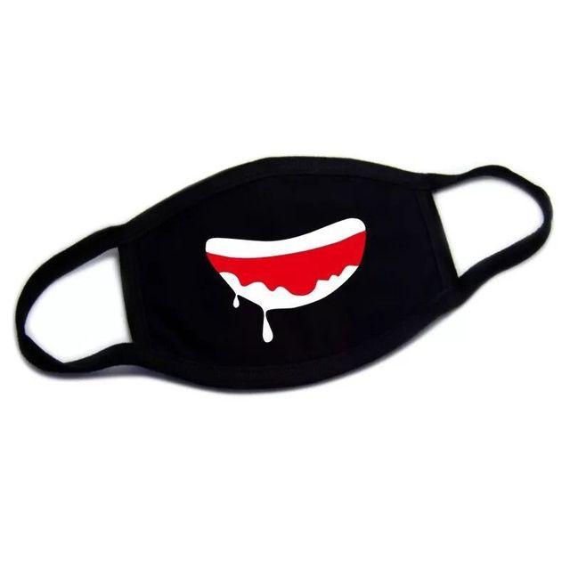 1pc Cute Unisex Funny Tooth Dust Mask Lips Fangs Cotton Mask Cartoon Kpop Flu Mask Emotiction Masque Hot 4