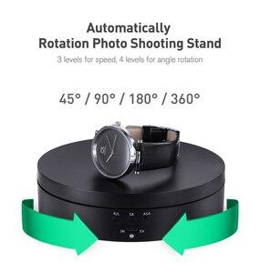 Image 4 - Photographie Auto tournant plateau tournant 360 degrés rond à distance automatiquement bijoux présentoir Base pour Photo Studio tir