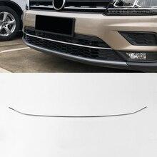 Для Фольксваген тигуан короткая колесная база- нержавеющая Передняя Нижняя решетка бампер Защитная крышка автомобильный Стайлинг