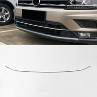 For VW Volkswagen Tiguan SHORT WHEELBASE 2017 2019 Stainless Front Bottom Grilles Bumper Guard Protector Cover Car Styling