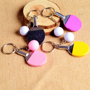 Creative Pingpong Shaped Keychain Cute Kawaii Ornaments Pendants Charming Party Favors Gifts New Arrive Hot Sale image