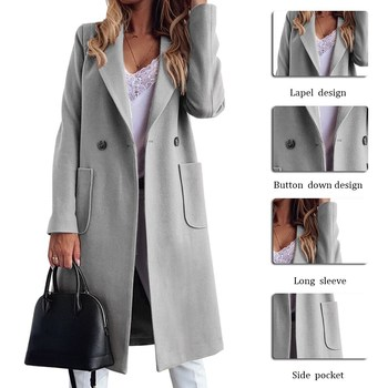 Autumn Winter Casual Solid Jacket Fashion Women Trench Coat Plus Size Coats Outerwear Office Ladies Causal Long Overcoat 2020New