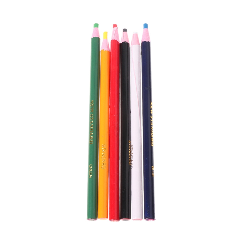 6 Colors Markers For Metal Glass Fabric China Graph Peel Off Grease Wax Pencil