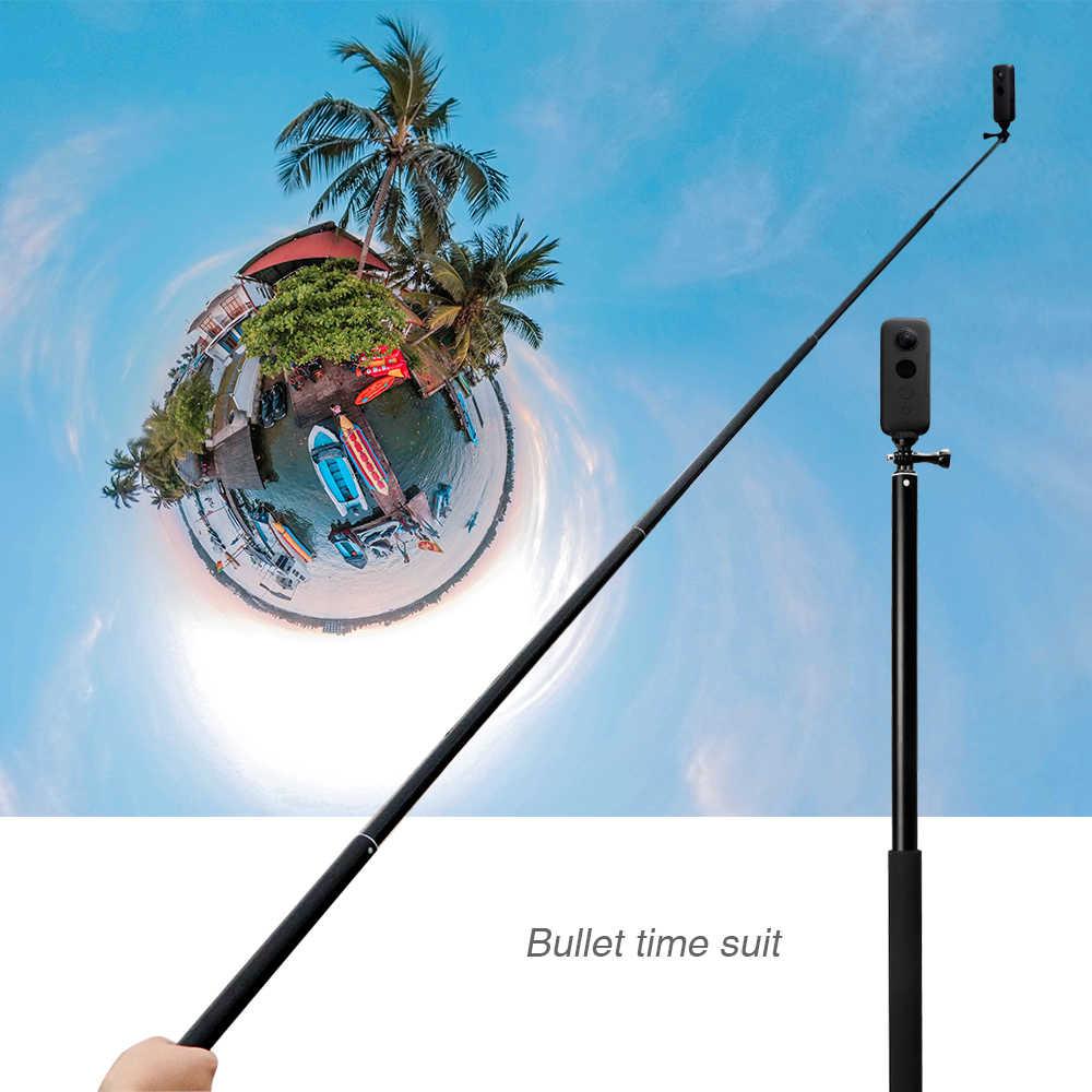 2m extensión varilla palo de Selfie de aleación de aluminio para Sjcam Xiaomi Yi 4K Insta 360 X Monopod Panorama accesorios de la cámara