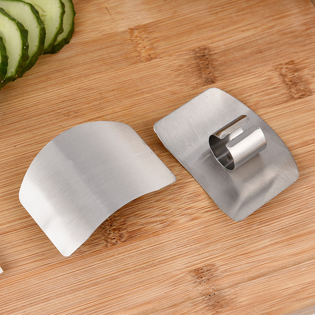 Vegetable Finger Guard Protector Gadgets For Hand Safe Easy Cutting Cooking Tools 1 2PCS Stainless Steel