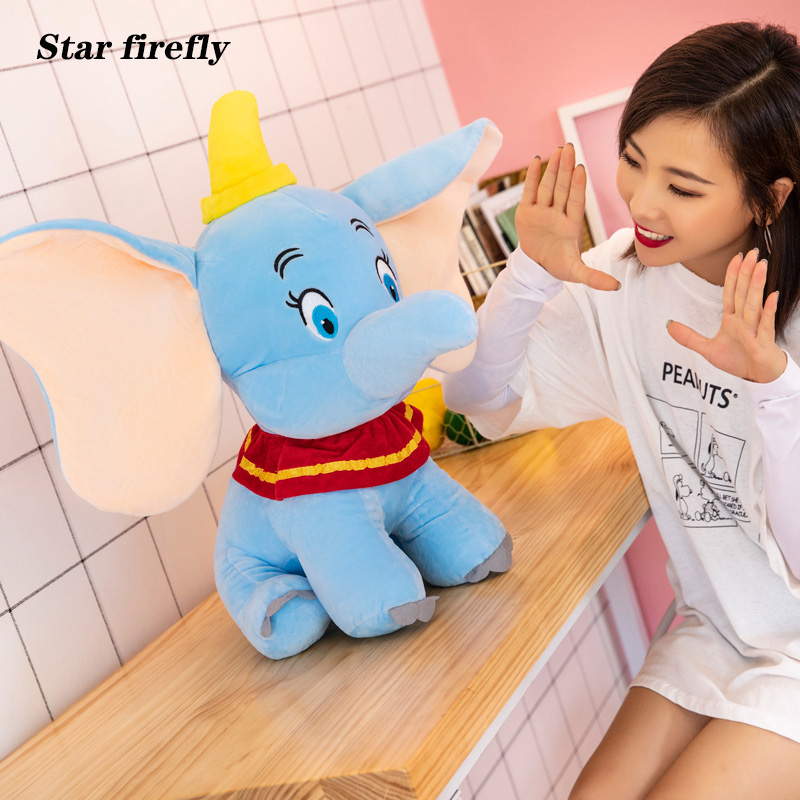 25-55cm Dumbo Elephant Plush Toys Stuffed Animals Soft Educational Toys For Baby Gift Stuffed Doll Gifts For Girl Friends