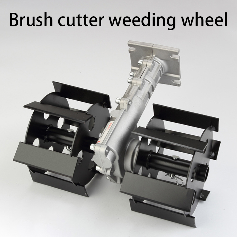 Lawn Mower Loose Soil Brush Ripper Weeding Wheel Slotted Wheel Deep Tillage Mower Accessories