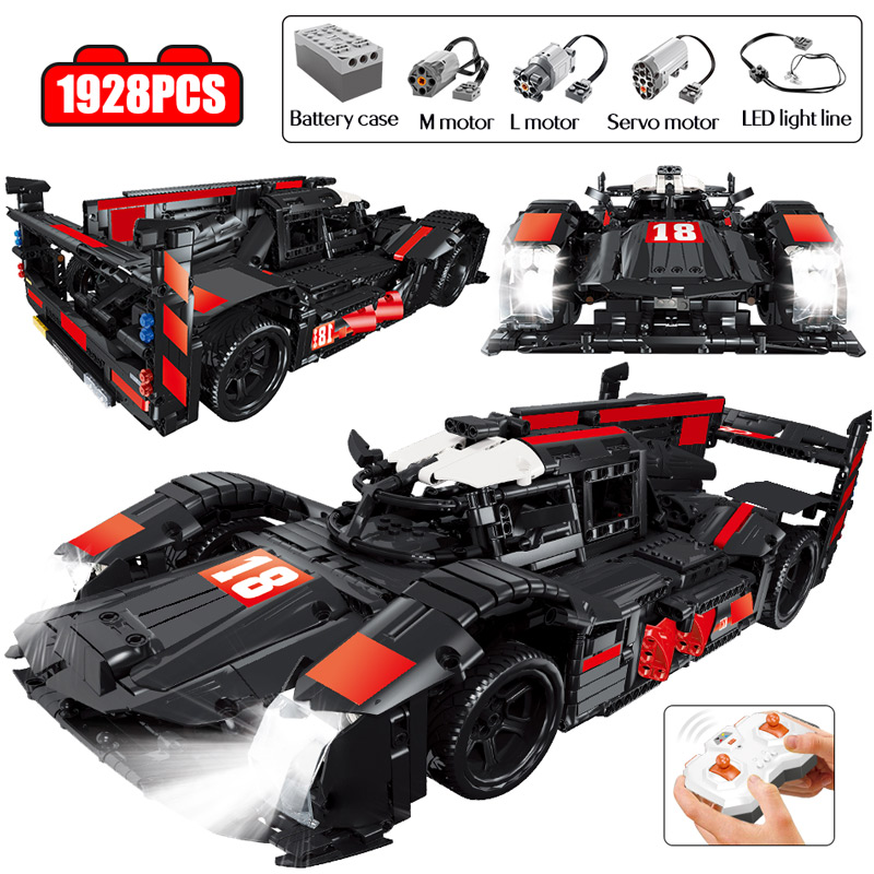 City Technology Legoing Technic RC Car Remote Control R18 Racing Sport Car Model Building Blocks MOC Bricks Toys for Boys Gifts