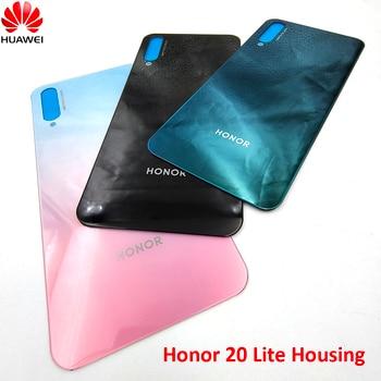 Перейти на Алиэкспресс и купить Huawei Honor 20 Youth Edition стекло Корпус задняя крышка батареи Замена для honor 20 lite задняя дверь чехол РЕМОНТ панель Запчасти