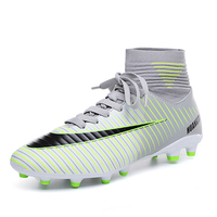 Football Shoes Men Summer Breathable Sneakers Kids Boys Spike Soccer Shoes High Top Soccer Trainers Lightweight Sport Boots