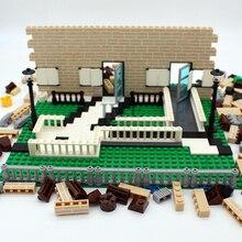 บล็อกอาคารเมืองสร้างDIYตกแต่งCreative Houseเสริมอะไหล่แพคเกจอิฐการศึกษาเด็กของขวัญของเล่นเด็ก