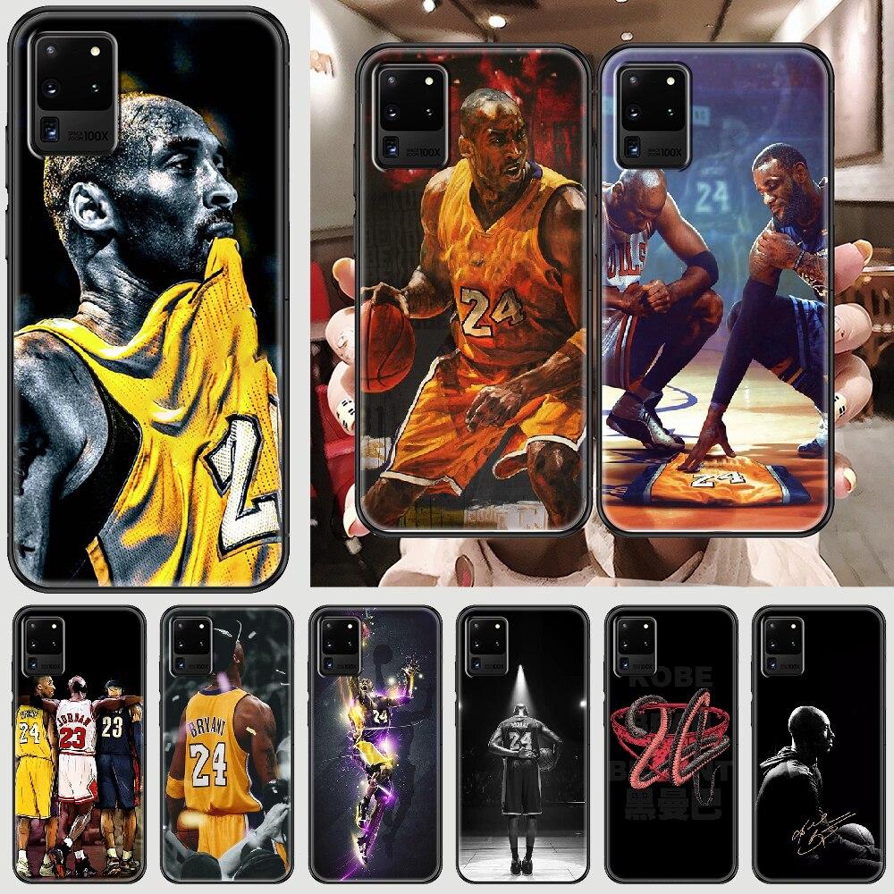 Свитер с баскетболистом Коби Брайантом, 24 чехол для телефона для Samsung Galaxy Note 4, 8, 9, 10, 20 S8 S9 S10 S10E S20 плюс UITRA Ультра черный 3D чехол мягкое сиденье ...