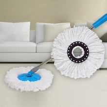 360 Degree Absorbent Rotating Round Gauze Rotary Mop Head Universal Replacement Micro Fiber for Home Kitchen 3PCS