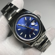 лучшая цена TOp sale Luxury Brand Watch blue dial 36mm & 40mm men and Women Automatic Mechanical Diamonds Silver Gold Datejust Watches AAA