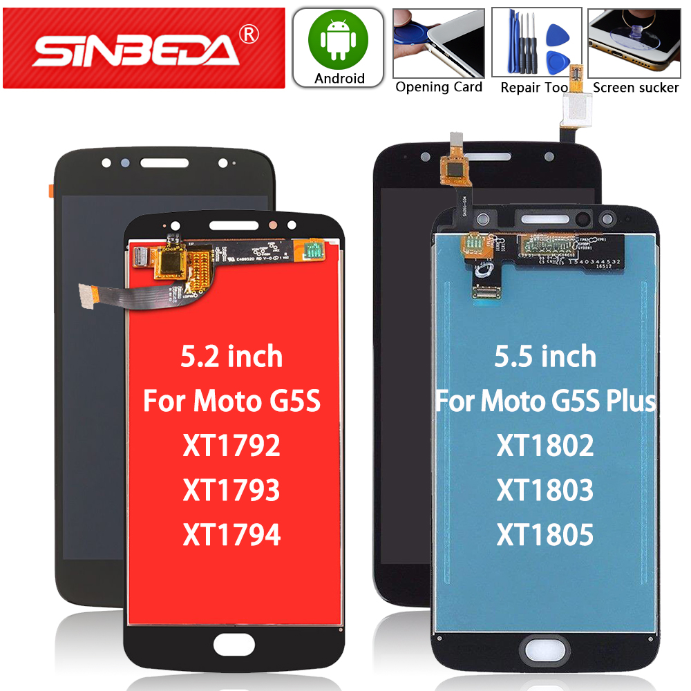 Original For Motorola Moto G5S XT1793 XT1794 <font><b>XT1792</b></font> <font><b>LCD</b></font> Display Touch Screen Digitizer For Moto G5S Plus XT1802 XT1803 XT1805 image