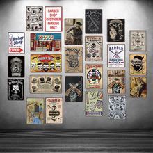 Barber Shop Customer Parking Only Metal Sign  Shabby Chic Wall Home Art Bar Decoration 30X20CM DU-3044A