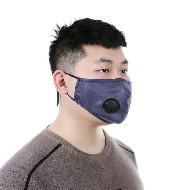 Adult 3D Face Mask pm2.5 Reusable Washable Anti flu Dust Bacteria Virus Breathable Valved Respirator Activated Carbon Filter 1