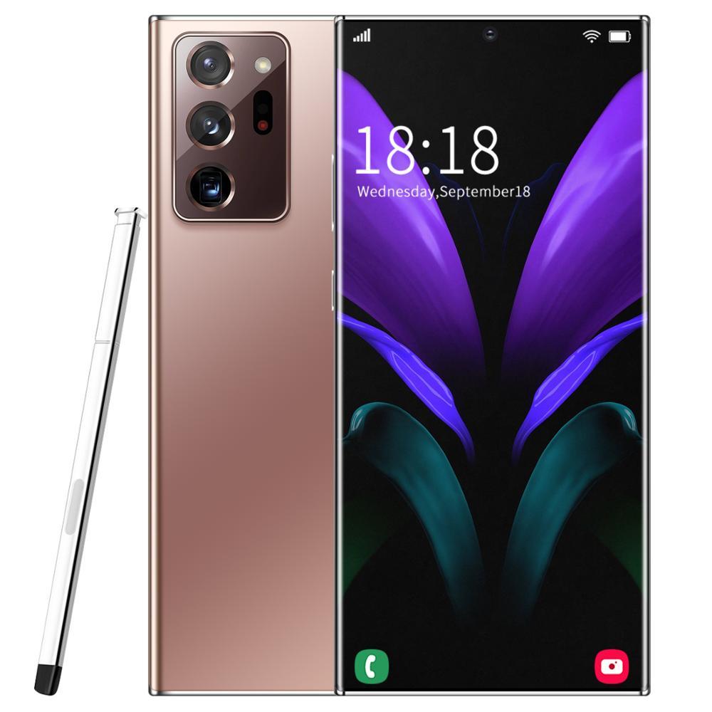 Global Version note 20U Android Smartphone 6.9inch Cellphone Dual SIM Mobile phone 3G Smart Phones Face unlock handset