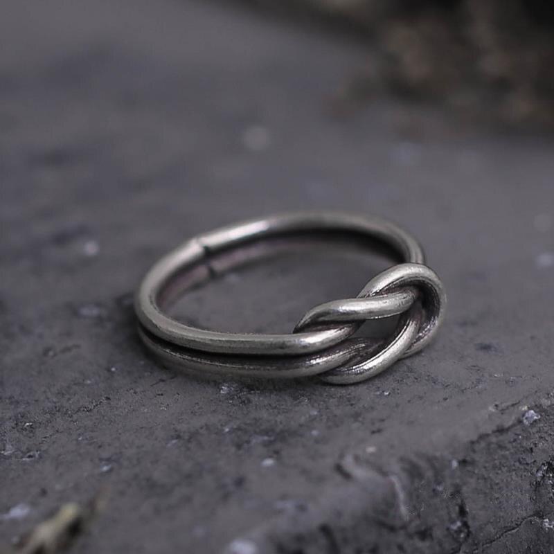 Fyla Mode Collection mère bijoux en argent Antique amour noeud anneaux en argent 100% 925 bague en argent Sterling bijoux bricolage en gros