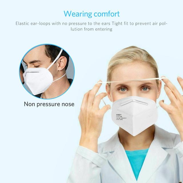 KN95 Face Masks Anti-dust Vertical Folding Face Mask Non-woven Prevent droplet Mouth Mask facial protective cover mask kn95 마스크 1