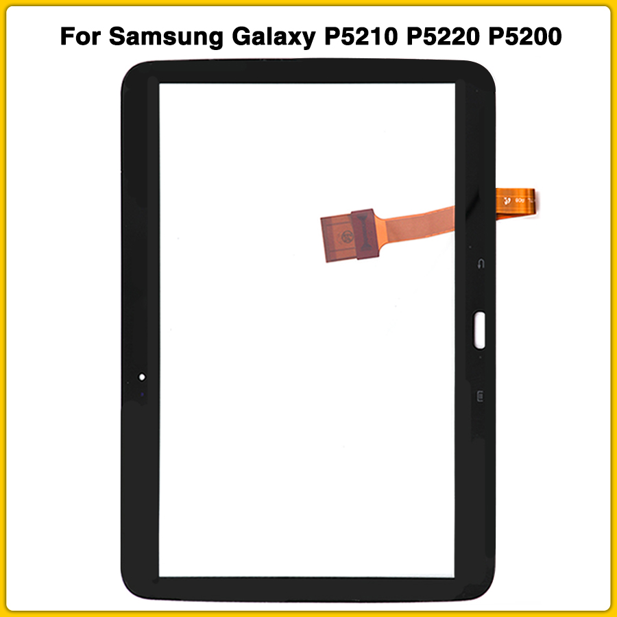 WHT Touch Screen Digitizer Glass+Adhesive Samsung Galaxy Tab 3 10.1 P5210 P5200
