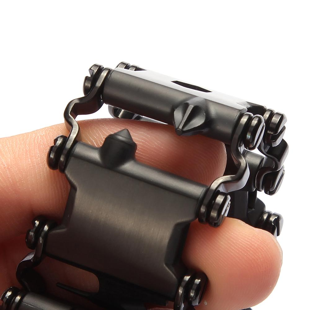 Tread Bracelet Stainless Steel Outdoor 29 in 1 Bolt Driver Kits Travel Spliced Wearing Bike Multifunctional Hand Tools