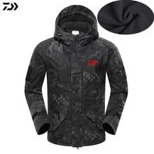 Новинка, куртка Daiwa, зимняя, питоновая, камуфляжная, пальто для рыбалки, бархатная, ветрозащитная, для рыбалки, с капюшоном, для улицы, сохраняет тепло, рыболовная куртка, Мужская