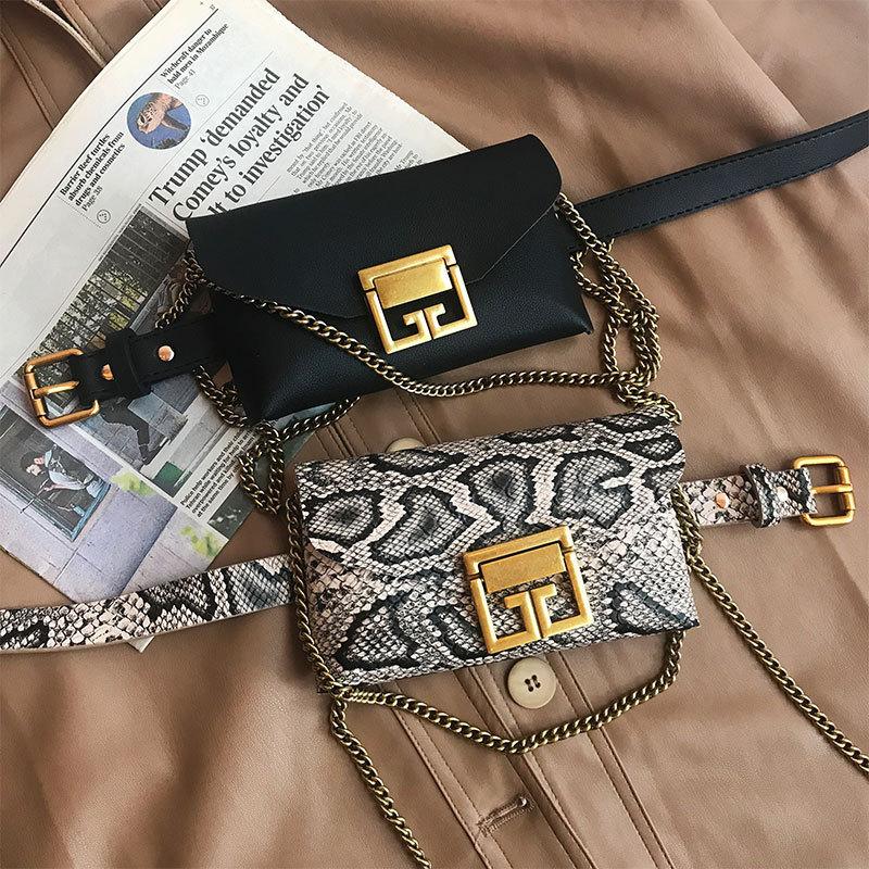 Bags 2020 New Fashion Snakeskin Running Bag Female Detachable Multi-Function Shoulder Messenger Bag Wholesale