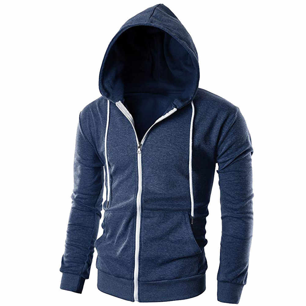 Men's Coats And Jackets Mens Casual Slim Fit Long Sleeve Zipper Hoodie With Pocket Outwear Blouse Bicycle Jacket Man Sporting