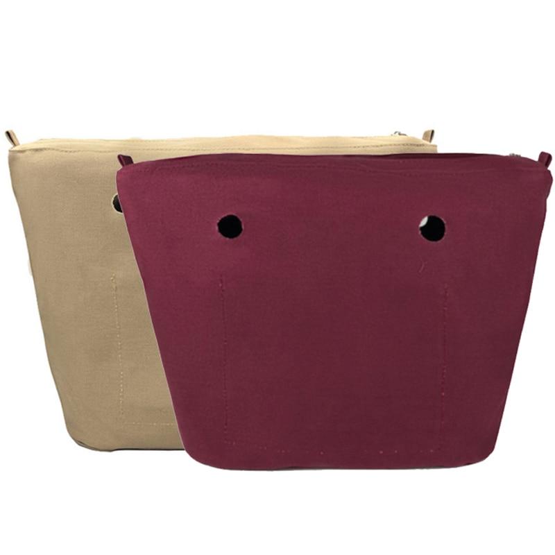 Новинка, классический размер, однотонная водонепроницаемая внутренняя подкладка, вставка, карман на молнии для Obag O Bag, сумка, силиконовый па...
