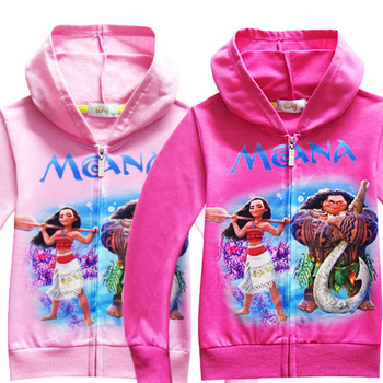 Niños primavera otoño Trolls Hoodies camiseta niños Moanna Sudadera con capucha Niña fiesta suministros vaiana de dibujos animados abrigo camiseta