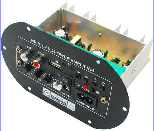 KYYSLB JW-A8 100~200W Home Audio Car Amplifier 12V24V220V Fever Class Subwoofer Power Amplifier Board Card USB Remote Control