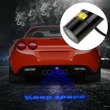 Car Rear License Plate Lights Auto Brake Parking Lamp Warning Laser Tail Logo Projector Car LED Projection Light