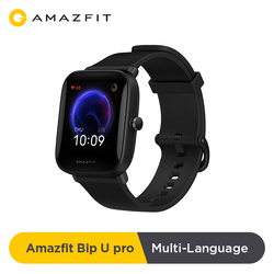 Global Version Amazfit Bip U Pro GPS Smartwatch 1.43 inch 50 Watch Faces Color Screen 5 ATM 60+ Sports Mode Heart Rate Tracking