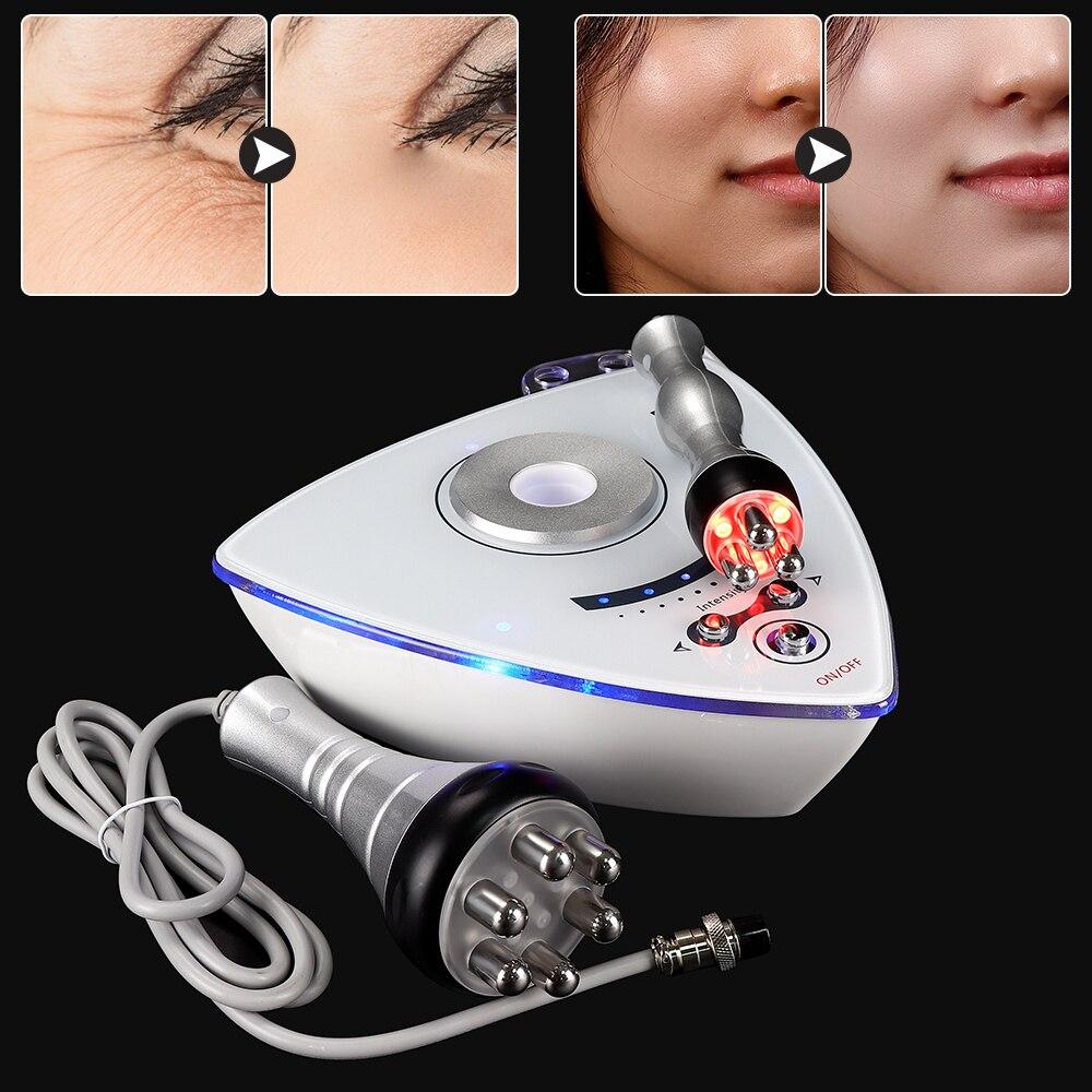 2 in 1 RF Radio Frequenz Gesichts Maschine Professionelle Hautstraffung Llifting Schönheit Gerät Anti Falten Gesicht Hautpflege Werkzeuge