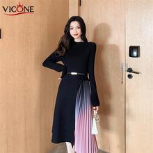 Женское трикотажное платье vicone тонкое облегающее с длинным
