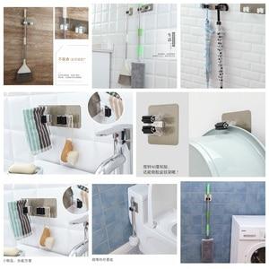 Image 3 - Многоцелевые клейкие крючки GUANYAO, настенный держатель для швабры, вешалка для швабры, крючок для кухни, ванной комнаты, прочные крючки
