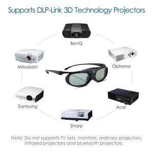 Image 3 - 2 pièces obturateur actif 96 144HZ Rechargeable lunettes 3D pour BenQ Acer X118H P1502 X1123H H6517ABD Optoma JmGo V8 XGIMI projecteur
