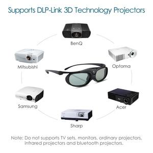 Image 3 - 2 sztuk aktywna migawka 96 144HZ akumulator 3D okulary dla BenQ Acer X118H P1502 X1123H H6517ABD Optoma JmGo V8 XGIMI projektor