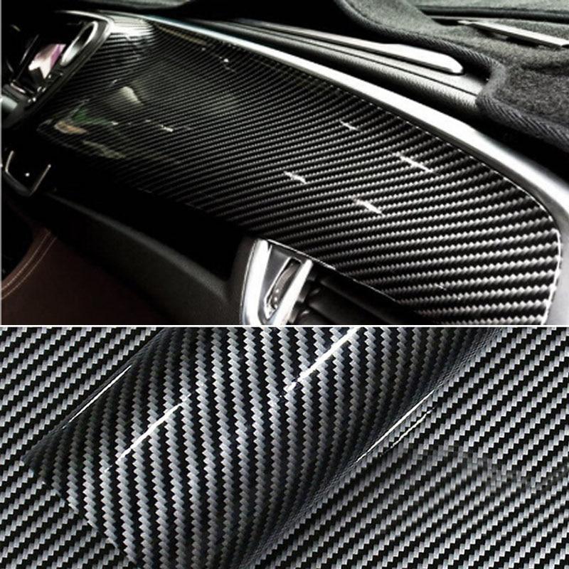 Premium Glossy Black 2D Carbon Fiber Vinyl Film Car Wrap Film 2D Carbon Fiber Car Sticker Auto Exterior Accessories Film