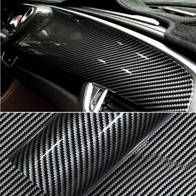 Wysokiej jakości czarny błyszczący 2D folia winylowa z włókna węglowego folia samochodowa 2D naklejki samochodowe z włókna węglowego zewnętrzne akcesoria samochodowe Film