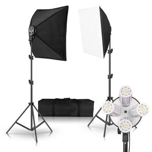 20 Вт Светодиодная цифровая фотография непрерывный софтбокс освещение студия видео портретный комплект