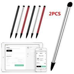 2 шт. Высококачественная емкостная универсальная ручка-стилус сенсорный экран карандаш-стилус для планшета для айпада, сотового телефона