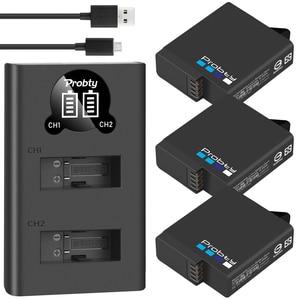 Image 1 - For GoPro Hero 7 hero 6 hero 5 Black Battery + LED dual Charger for Go Pro Hero7 hero6 hero5 Black camera AHDBT 501battery