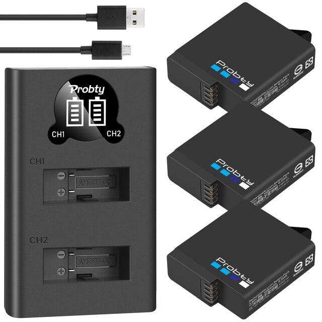 For GoPro Hero 7 hero 6 hero 5 Black Battery + LED dual Charger for Go Pro Hero7 hero6 hero5 Black camera AHDBT 501battery